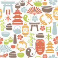 Seamless pattern asian icons Royalty Free Stock Photography