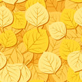 Seamless pattern with autumn aspen leaves. Vector Royalty Free Stock Photos