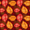 Seamless pattern with autumn leafs Royalty Free Stock Image