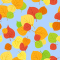 Seamless pattern with autumn leaves. Vector EPS 8. Royalty Free Stock Images
