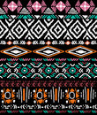 Seamless pattern in aztec style vector ornament on black background native american Royalty Free Stock Photo