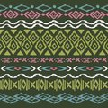 Seamless pattern in aztec style vector ornament on black background native american Stock Images