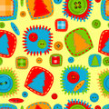 Seamless pattern for babies Stock Photos