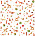 Seamless pattern: baby toys illustration Stock Photography