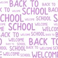 Seamless pattern of back to school words quotes.