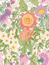 Seamless pattern, background with abstract decorative summer