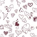 Seamless pattern background with abstract hearts.