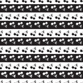 Seamless pattern background in cherry. Berries black and white. Royalty Free Stock Photo