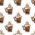 Seamless pattern background with coffee cups for fast food or cafe design Royalty Free Stock Photos