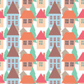 Seamless pattern background of colorful houses pattern vector illustration Royalty Free Stock Photo
