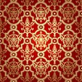 Seamless pattern background damask wallpaper vector illustration Stock Photography