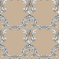 Seamless pattern background damask wallpaper vector illustration Royalty Free Stock Image