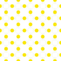 Seamless pattern or background fabric with yellow fresh dots retro vector Royalty Free Stock Photos