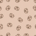 Seamless pattern background pig vector hog sleeping animals Royalty Free Stock Photo
