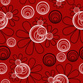 Seamless pattern background red background black white elements Royalty Free Stock Photo
