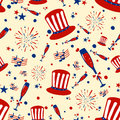 Seamless pattern background for 4th of July Independence Day  America Royalty Free Stock Photo