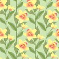 Seamless pattern background with yello flowers, or Stock Photos