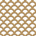 Seamless pattern, background, yellow rope woven Royalty Free Stock Photo