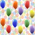 Seamless pattern with balloons vector colorful background Stock Image
