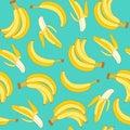 Seamless pattern of bananas.