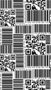 Seamless pattern in barcode style. Royalty Free Stock Photo