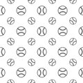 Seamless pattern with baseball Royalty Free Stock Photo