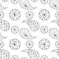 Seamless pattern based on traditional asian elements paisley Stock Photos