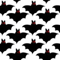 Seamless pattern with bats for halloween Stock Photography