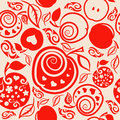 Seamless Pattern of beautiful apples and leaf. Royalty Free Stock Photo