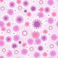 Seamless pattern with beautiful flowers a Royalty Free Stock Image
