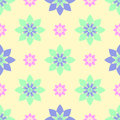 Seamless pattern of beautiful flowers, turquoise and pink flowers
