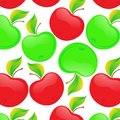 Seamless pattern beautiful and green apples this is file of eps format Royalty Free Stock Photo