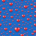 Seamless pattern beautiful red heart.