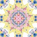 Seamless pattern with beautiful round pattern, indian style