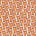 Seamless pattern on a beer theme