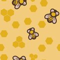 Seamless pattern with bees vector image of Royalty Free Stock Photography