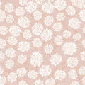 Seamless pattern with beige floral theme Stock Photography