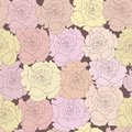 Seamless pattern with beige roses on design background illustration Royalty Free Stock Photos