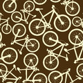 Seamless pattern of bicycles speed Royalty Free Stock Images