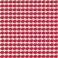 Seamless pattern with big red apples on white background Royalty Free Stock Photo