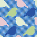 Seamless pattern with bird silhouettes.