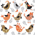 Seamless pattern with birds Royalty Free Stock Photos