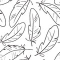 Seamless pattern with birds feathers Royalty Free Stock Photos