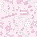 Seamless pattern of birthday elements background vector illustration Royalty Free Stock Images