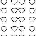 Seamless pattern of black glasses on a white background Royalty Free Stock Image