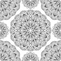 Seamless Pattern With Black Me...