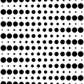 Seamless pattern, black & white circles and lines