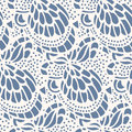 Seamless pattern black and white in doodle style vector illustration Royalty Free Stock Photography