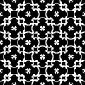 Seamless pattern, black & white geometric ornament