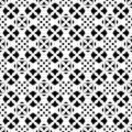 Seamless pattern, black & white geometric ornament